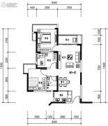 华发城建未来荟3室2厅2卫86平方米户型图