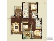 金地天际.�o华3室2厅2卫135平方米户型图