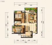 金龙星岛国际2室2厅2卫0平方米户型图