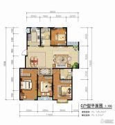 青啤・��悦湾4室2厅2卫135平方米户型图