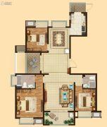 吴中万达广场3室2厅2卫139平方米户型图