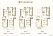 棠悦3室2厅1卫103平方米户型图