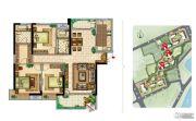 美景嘉园3室2厅2卫144--145平方米户型图