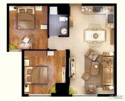 文化空间2室2厅1卫70平方米户型图