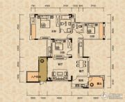 北麓国际城3室2厅2卫99平方米户型图