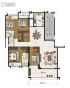 海�Z天翡4室2厅3卫191平方米户型图