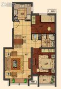 莱蒙顺泽・水榭花城2室2厅1卫80平方米户型图