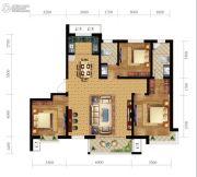 尚贤府3室2厅2卫139平方米户型图