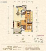 金海湾豪庭3室2厅2卫103平方米户型图