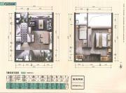 又一居・作品一号2室1厅1卫40平方米户型图
