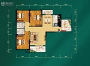 中建宜城春晓3室2厅2卫131平方米户型图