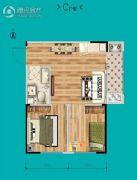紫金名门2室1厅1卫52平方米户型图