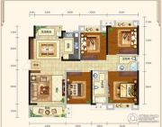 城中半岛3室2厅2卫136平方米户型图