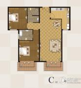 丽都壹号2室2厅2卫114平方米户型图