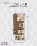 英祥・春天广场1室1厅1卫36平方米户型图