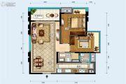 中德英伦联邦2室2厅1卫91平方米户型图