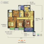 龙湖香醍西岸3室2厅2卫105平方米户型图