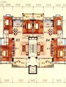 陶然家园3室2厅2卫141平方米户型图