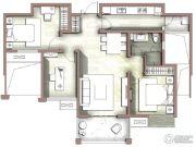 富力尚悦居3室2厅1卫98平方米户型图