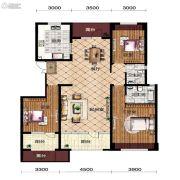 宝能水岸康城3室2厅2卫138平方米户型图