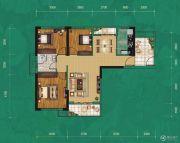 中建宜城春晓3室2厅1卫106平方米户型图