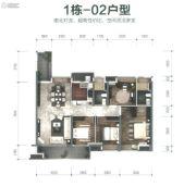 保利碧桂园・悦公馆4室2厅2卫143平方米户型图