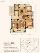 三水润园一期3室2厅2卫138平方米户型图