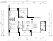 华发城建未来荟3室2厅1卫87平方米户型图