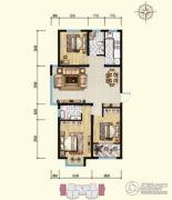 明瀚花香城3室2厅2卫117平方米户型图