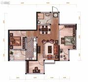 昆明广场3室2厅1卫85平方米户型图