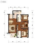 万科&新城  时代之光2室1厅2卫97平方米户型图
