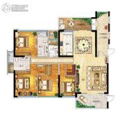 帝�Z苑4室2厅3卫195平方米户型图