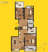 尚景园3室2厅1卫111平方米户型图