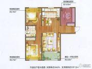 朗诗绿色街区2室2厅1卫89平方米户型图