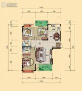 宏�S・缇香郡3室2厅2卫125平方米户型图