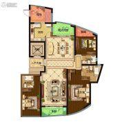 保利达江湾城3室2厅3卫193平方米户型图