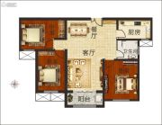 佳合如苑3室2厅1卫121平方米户型图