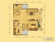 森嘉幸福里2室2厅1卫95平方米户型图