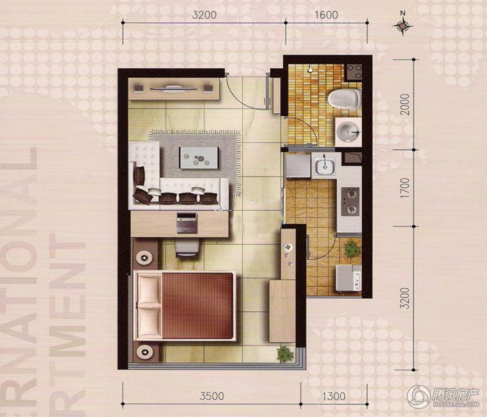 > 汇通国际公寓户型图