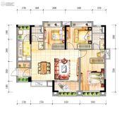 时代幸汇3室2厅2卫97平方米户型图