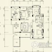 泰然南湖玫瑰湾3室2厅2卫134平方米户型图