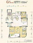 八达西城景苑4室2厅2卫0平方米户型图