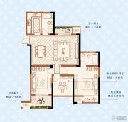 绿洲白马公馆3室2厅2卫111平方米户型图