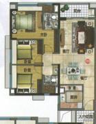 万科东荟城3室2厅2卫100平方米户型图