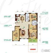 昂展公园里3室2厅2卫139平方米户型图