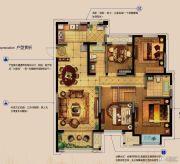 金科财富商业广场4室2厅2卫137平方米户型图