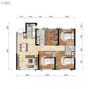 万锦・紫园4室2厅2卫108平方米户型图