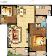 阳光100国际新城2室2厅1卫93平方米户型图