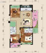 亿家龙景名都3室2厅2卫136平方米户型图