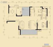 保利香槟国际3室2厅2卫128平方米户型图